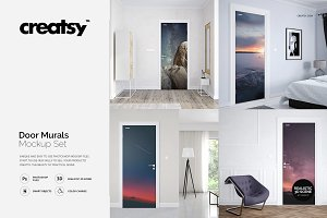 Door Murals Mockup Set