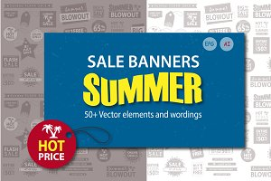 Summer Sale Banners. Vector set.