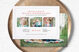 Vintage Mini Session Flyer Template