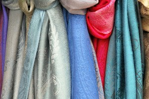 Knotted scarves
