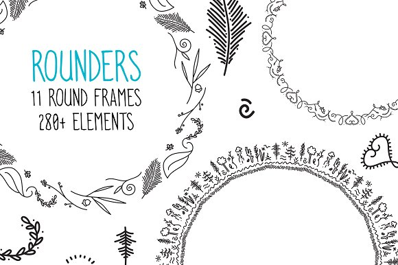 Rounders Round Frames & Elements