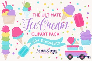 The Ultimate Ice Cream Clipart Pack