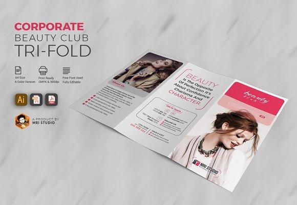 Corporate Beauty Club Tri-Fold