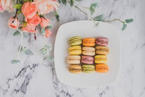 Plate of macarons