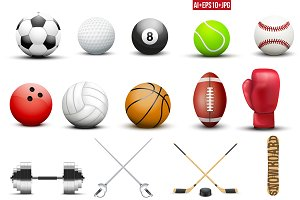 Mega Bundle of sports equipment.