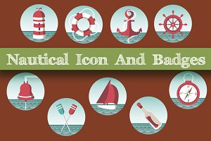 Nautical  Icon  And  Badges