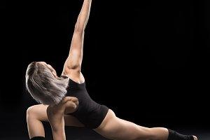 woman contemporary dancer posing