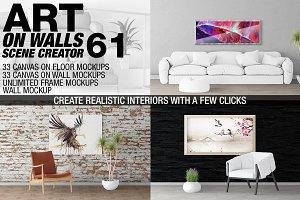 Canvas Mockups - Frames Mockups v 61