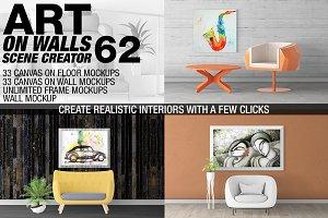 Canvas Mockups - Frames Mockups v 62
