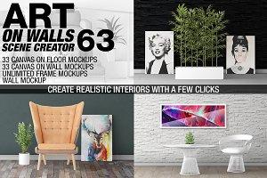 Canvas Mockups - Frames Mockups v 63