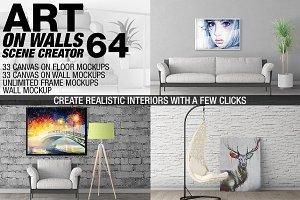 Canvas Mockups - Frames Mockups v 64
