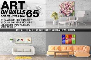 Canvas Mockups - Frames Mockups v 65