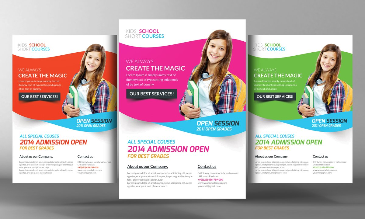 junior school photos graphics fonts themes templates kids school flyer template