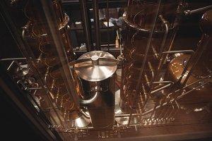 Interior of beer factory distillery