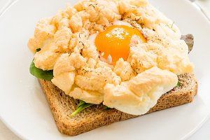 Breakfast with Wholemeal Bread Toast and Cloud Egg