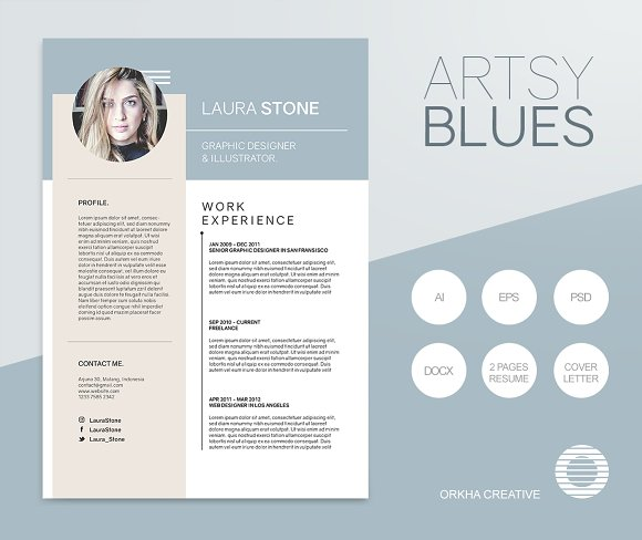 artsy blues resume template resumes