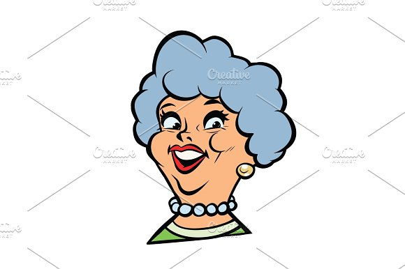 Funny Adult Woman Fashionable Grandmother Portrait
