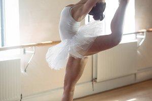 Ballerina practising ballet dance