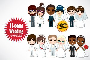 Chibi Wedding Couples