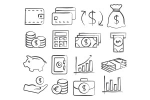 Money Doddle Icons