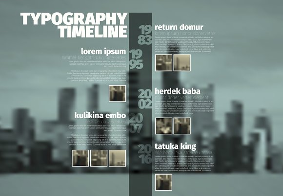 Vector Timeline Template With Photos