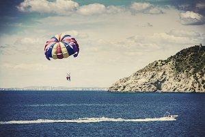 Balloon over the sea