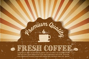 Retro coffee poster / banner