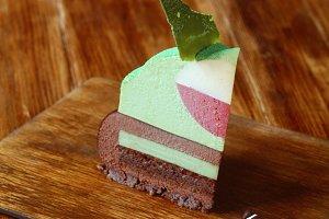 Multi Layered Mousse Cake