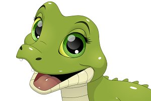 Cute funny crocodile