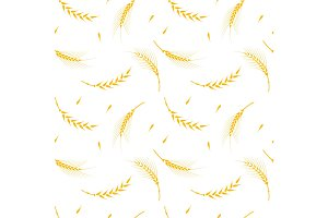 Wheat pattern on a white background.
