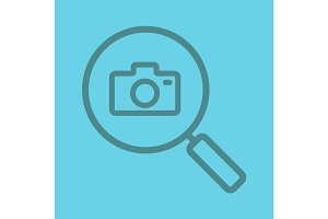 Image search color linear icon