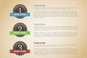 Retro three options template