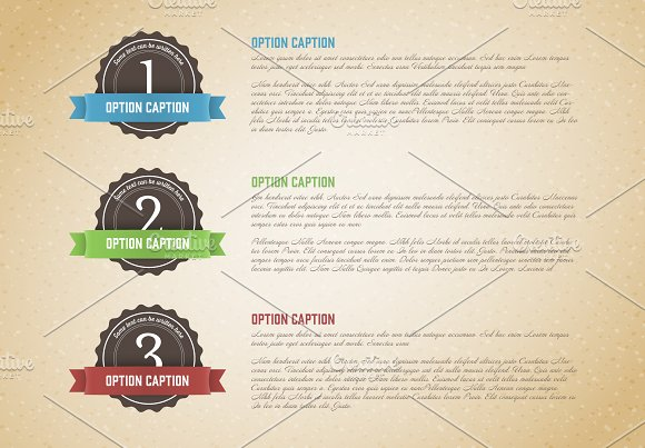 Retro three options template in Flyer Templates