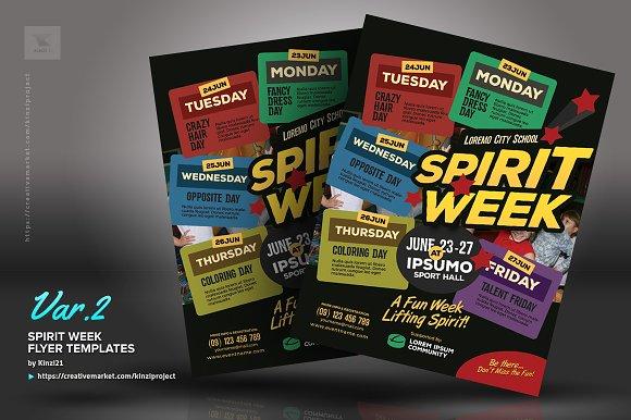 Spirit Week Flyer Templates Flyer Templates Creative Market - Homecoming dance flyer template