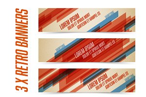Retro banners template