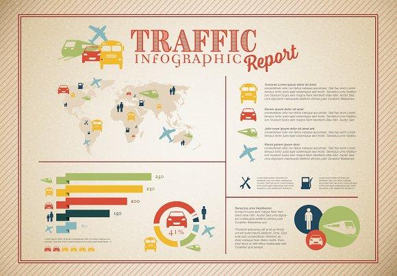 Retro Traffic Infographic Template