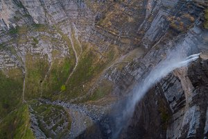 Waterfall of Nervion river, Spain