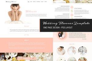 One page design - Wedding Planner