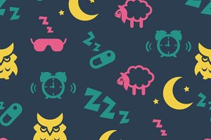 Sleep time seamless pattern