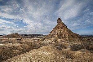 Sandstone hill in the desert