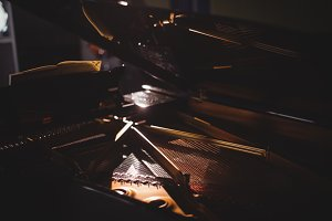 Close-up of piano instrument