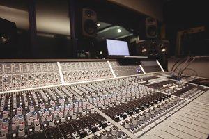 Sound mixer in a studio