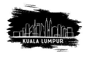 Kuala Lumpur Skyline Silhouette.