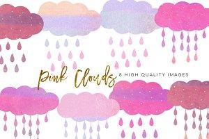 pink clouds clip art