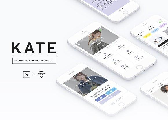 KATE Mobile UI UX Kit