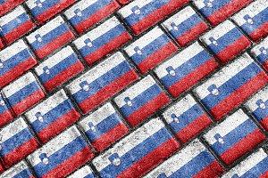 Slovenia Flag Urban Grunge Pattern