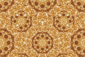 Golden Ornate Seamless Pattern Mosaic