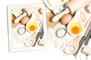 tablet pc and food ingredient