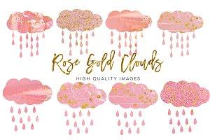 rose gold cloud clip art,