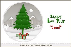 New Year Greeting Card - Print